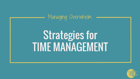 How to manage the overwhelm and implement effective time management strategies.